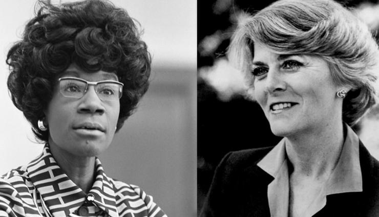 Shirley Chisholm and Geraldine Ferraro made US political history when they ran for President and Vice President, respectively.