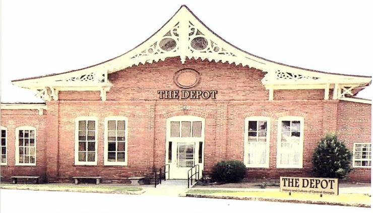 Illustration of the Depot, Future home of Georgia's Old Capital Museum Society