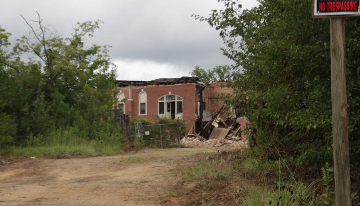 Remains of the Old State Prison on Georgia Highway 22