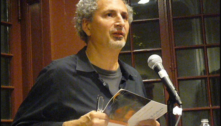 Image of Poet Peter Balakian giving a reading at The Kelly Writers House