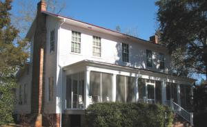 The farmhouse at Andalusia where Flannery O'Connor lived and wrote between 1951 and her death in 1964.